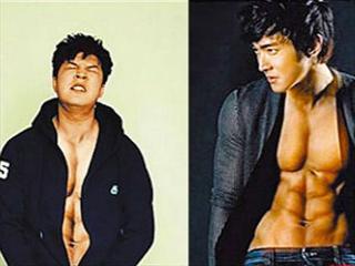 SJ神童向始源借肌 捏照筋肉人