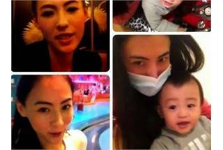 张栢芝与儿子兴奋自拍短片